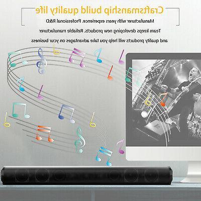 Bluetooth Sound Bar System Speaker Home Subwoofer Theater