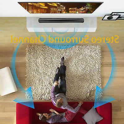 Bluetooth Surround Sound Bar 4 Home Subwoofer TV