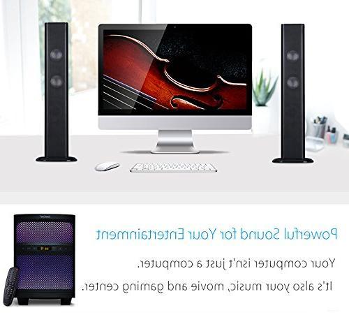 LuguLake 2.1 Channel TV with Lights, Radio, USB Reader,