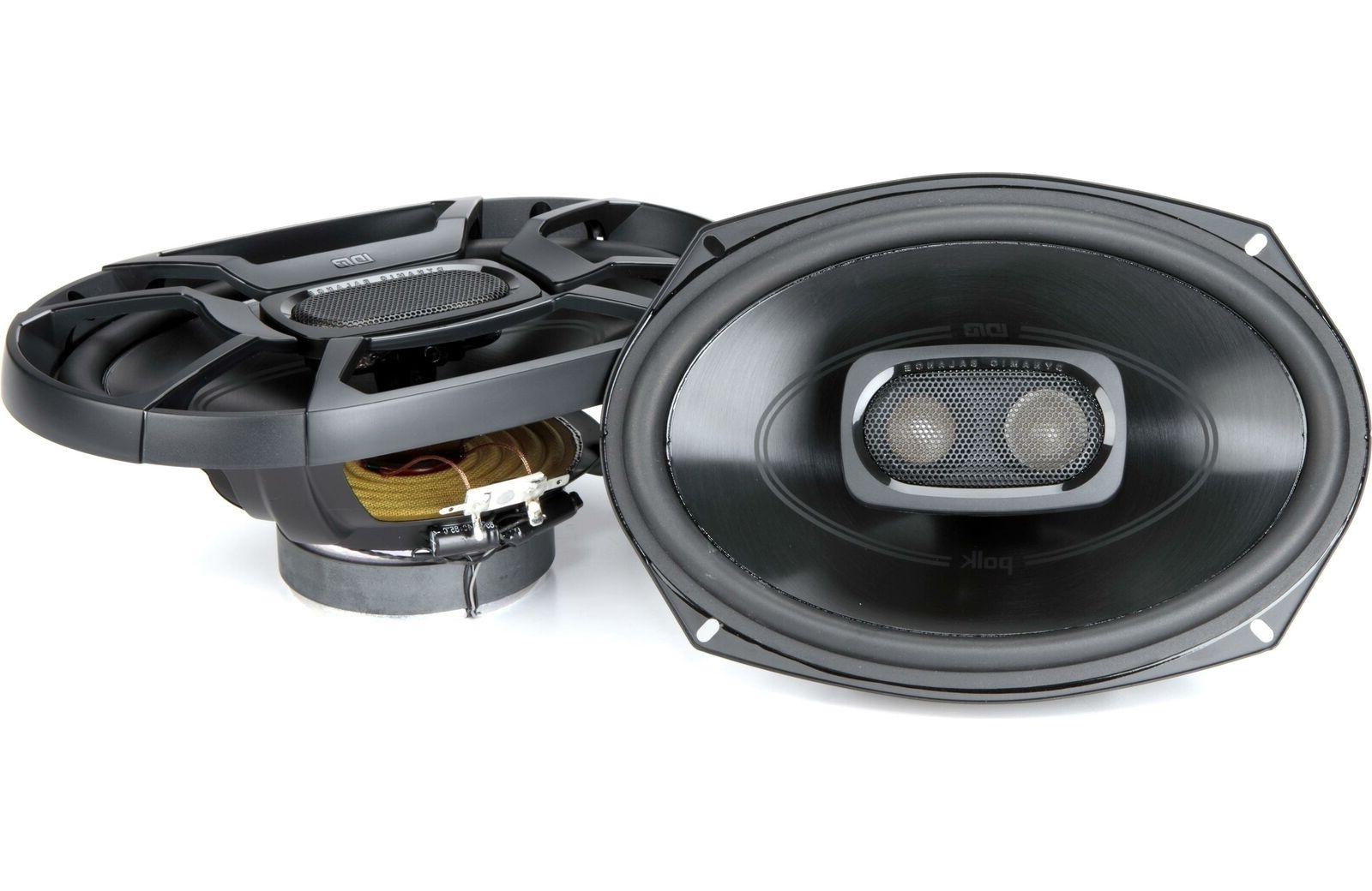 Polk 6x9 Inch 450W 3-Way Car/ Boat Coaxial Stereo Audio Spea