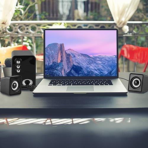 Computer Speakers, MeetuoSound USB Powered Desktop Laptop Speakers, Best for Laptops, IPAD, Mobile