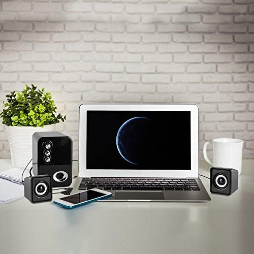 Computer USB Powered 2.1 Desktop Speakers, for Laptops, IPAD, Mobile Bass&Treble