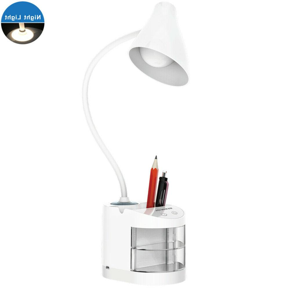 Gerintech LED Desk Lamp with USB Charging Port for Study, Di