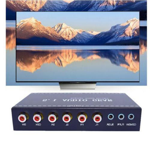Digital stereo Surround Decoder 5.1 Converter EU/US
