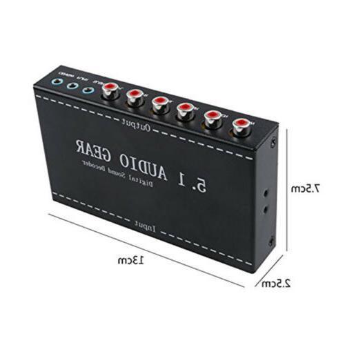 Digital Sound Decoder Converter plug BLACK