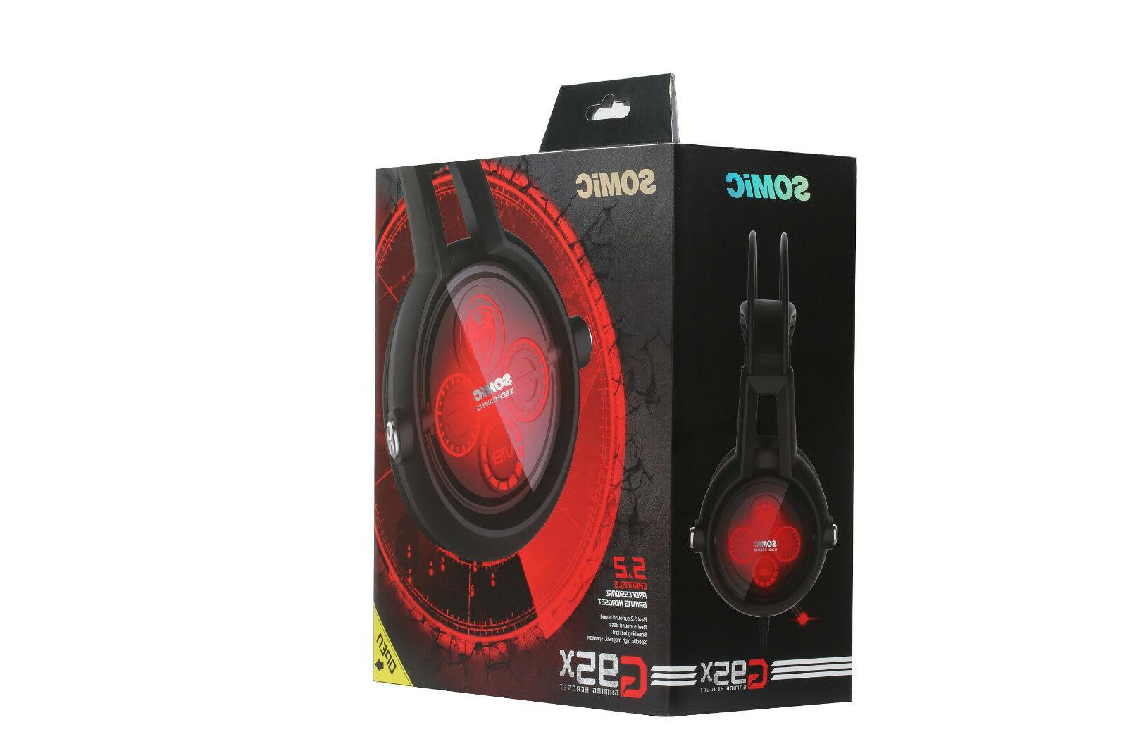 SOMIC E95X Channel Surround Gaming Headset with G2 USB