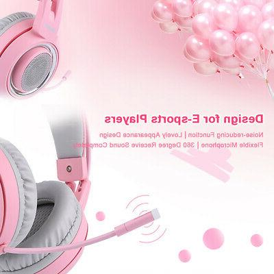 SOMIC Headset Sound Pink Z4M9