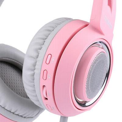 SOMIC Earphone Headset Sound Pink Z4M9