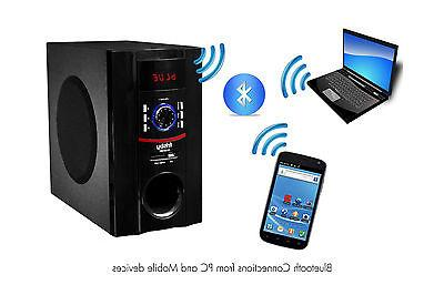 Frisby Bluetooth Laptop Computer Desktop Surround Sound 5.1 Home Speaker System