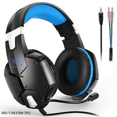 Gaming Headset Over-ear Gaming 3.5mm Mic PS4