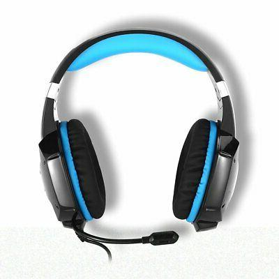 Gaming Over-ear Gaming Headset Mic Earmuffs PC PS4