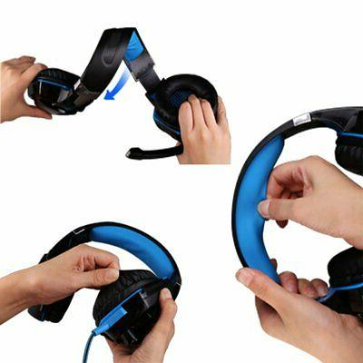 Gaming Headset Strong Bass Over-ear Mic for PC PS4