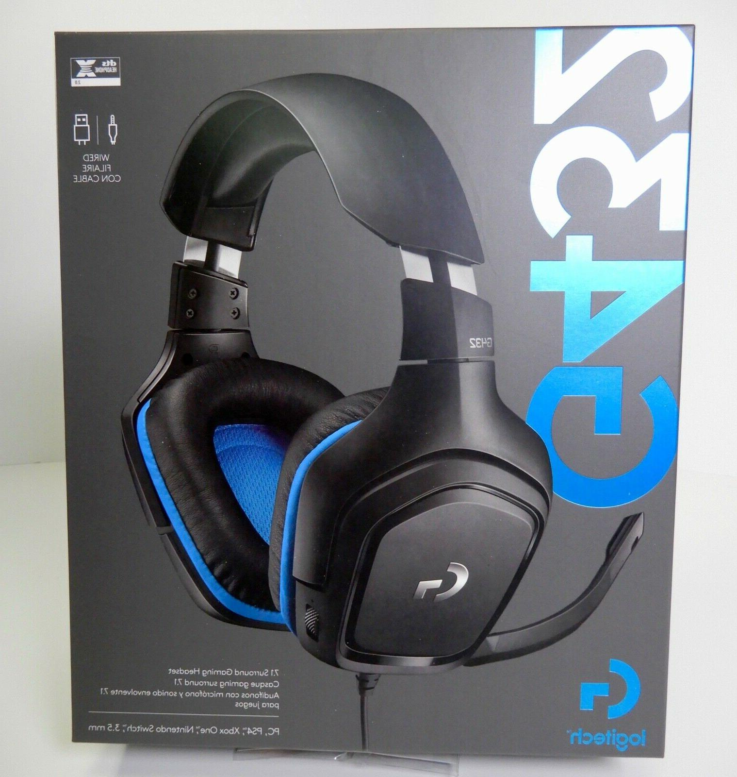 g432 gaming headset 7 1 surround sound