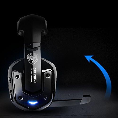 SOMIC G909PRO Surround USB Headset Over Ear Headphone PS4,PC Mic,Volume