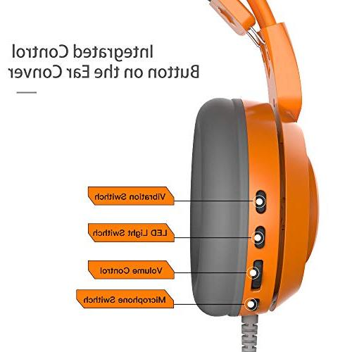SOMIC with PC, PS4, Virtual Surround Sound Cat Headphones LED, Lightweight Headphones Women