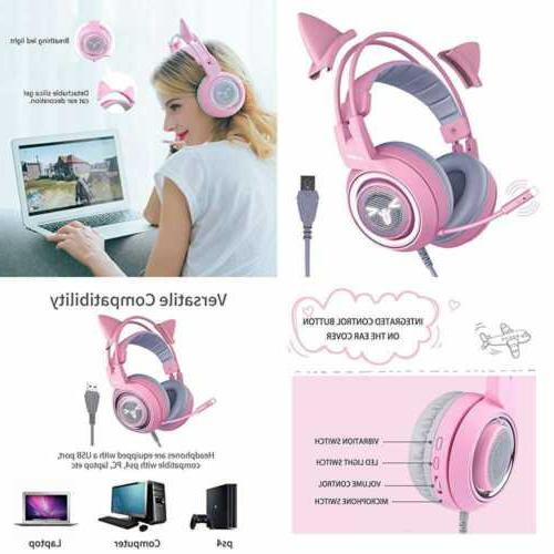 g951pink gaming headset for pc ps4 laptop