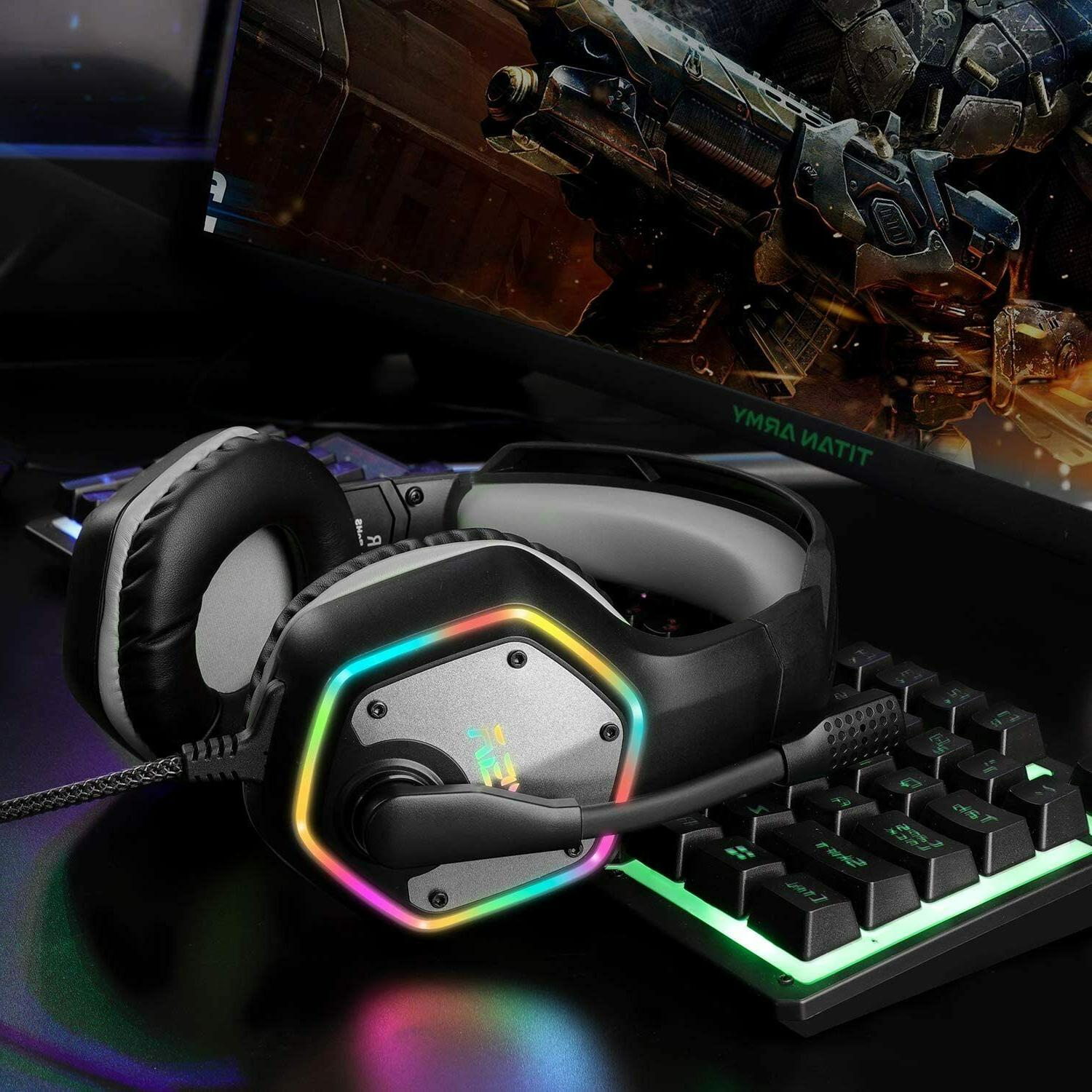 Gaming Headset 7.1Surround Sound Stereo USB Headphones Noise