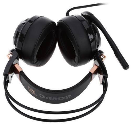 Somic Headset Noise Cancelling 7.1 Sound W/Mic Vibrating
