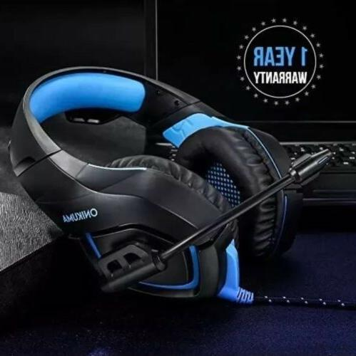 Gaming Headset RUNMUS Headset Surround Sound, Xbox One No