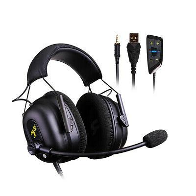 gaming headset 7 1 virtual surround sound