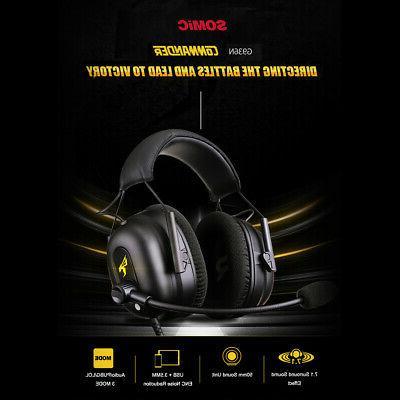 gaming headset surround sound 7 1 virtual