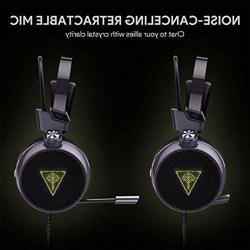 AUKEY Gaming USB Over-Ear Supports 7.1-Channel Sound Bass Boost Backlit