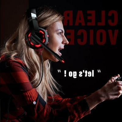 Gaming Xbox PS4 PC with 7.1 Surround Sound Stereo Headset