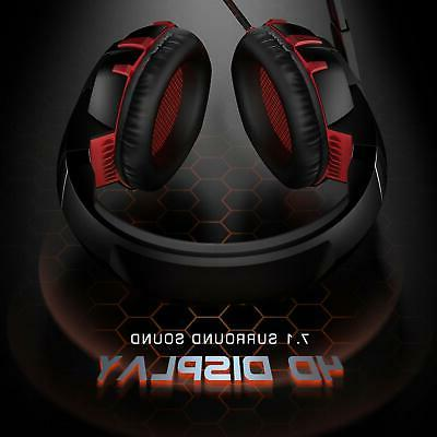Gaming Headset Xbox One PS4 7.1 Surround Sound Headset