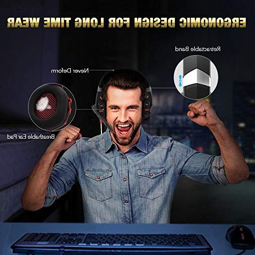 RUNMUS Headset One Surround Stereo, PS4 Headset with Noise Mic Compatible with Xbox One Nintendo Switch