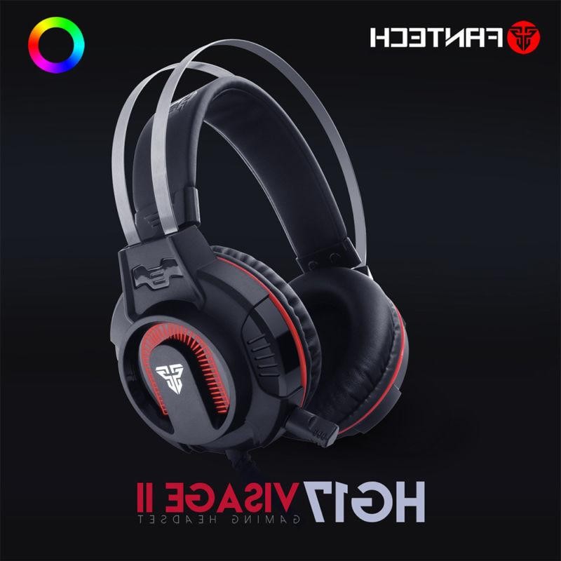 surround sound gaming headset stereo led headphones