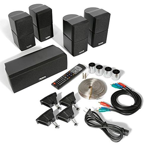 5.1 Amplifier System - Theater Stereo Receiver Box Set Built-in 5 Remote, Radio, RCA - Pyle