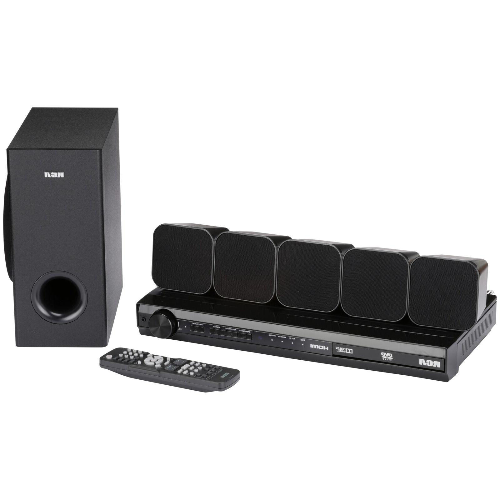 Home Theater System RCA DVD with HDMI 1080p Output 8 pc Box
