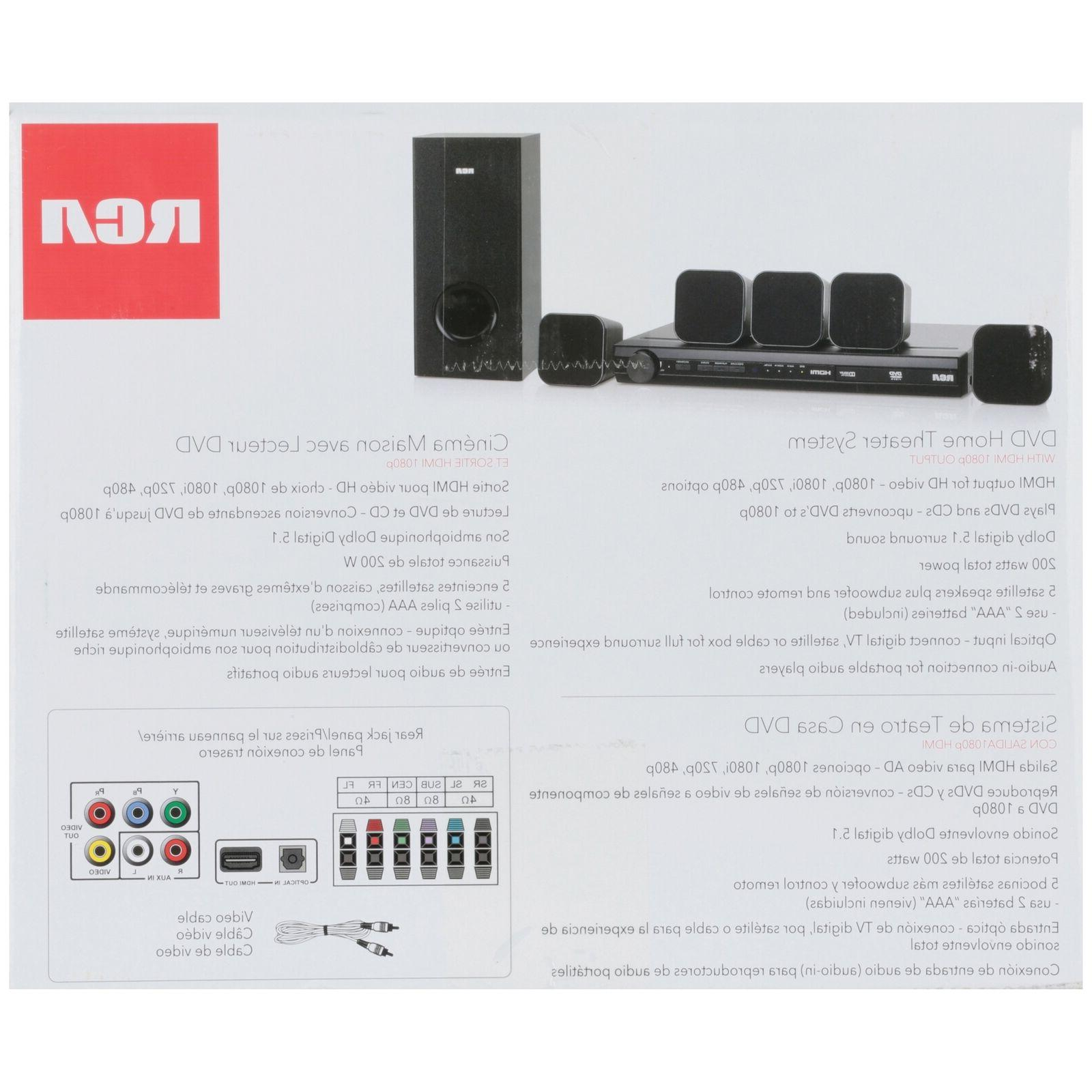 Home Theater System DVD Output 8 pc Box