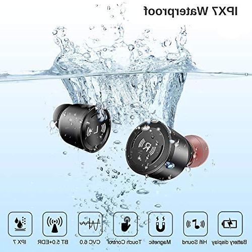 IPX7 Bluetooth Volume Control Earphones with Box,Noise Mic 3D Bass Sound