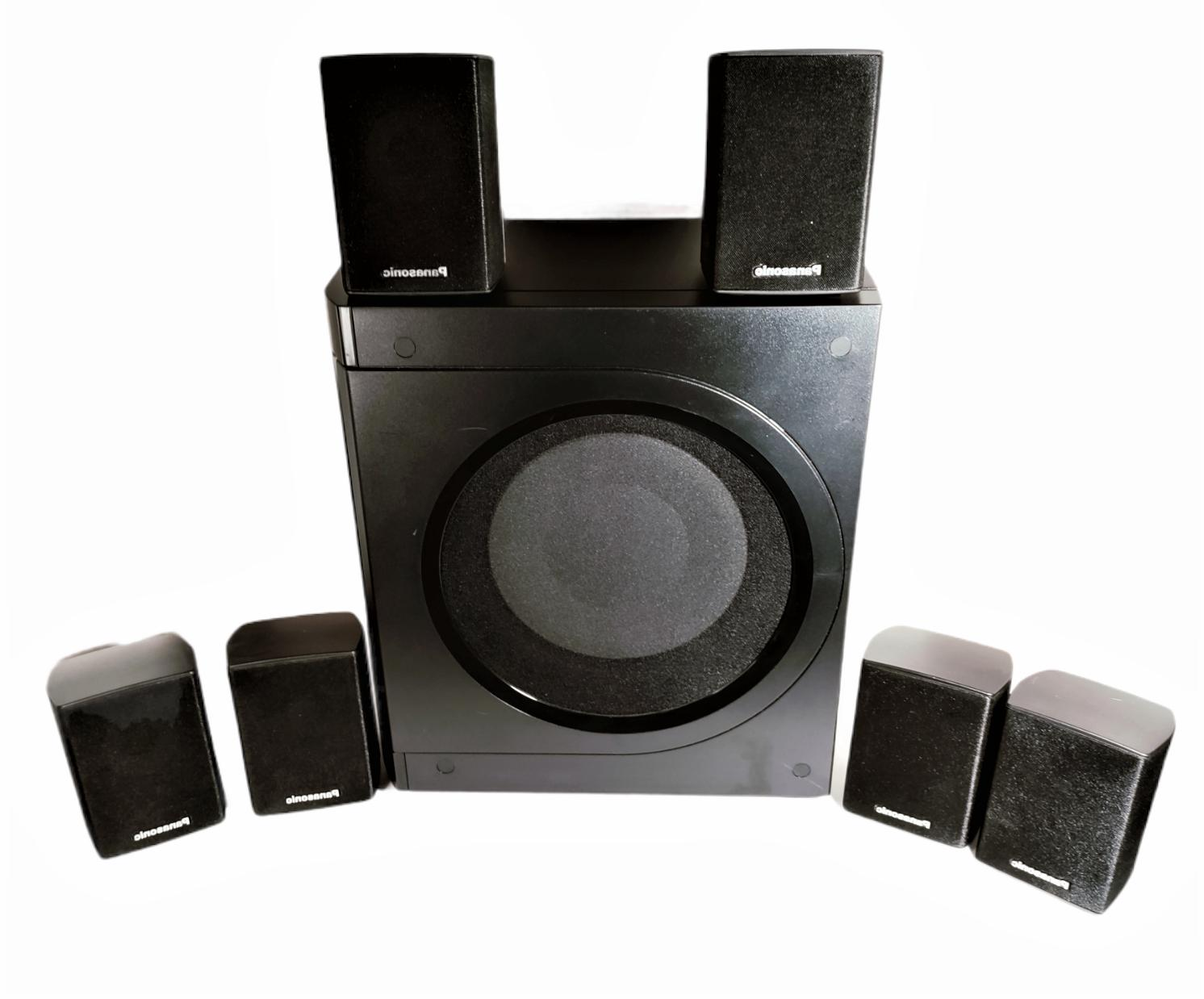kelton 8 subwoofer w 6 small speakers
