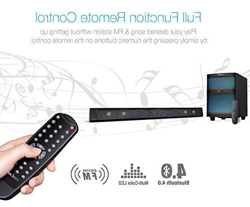 LuguLake LED bar Speaker with Remote Control-for Model