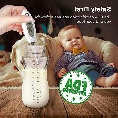 TaoTronics Meat Thermometer Read Food Cooking 40% Sheath, Baby-Formula, Kitchen, Grilled Meat