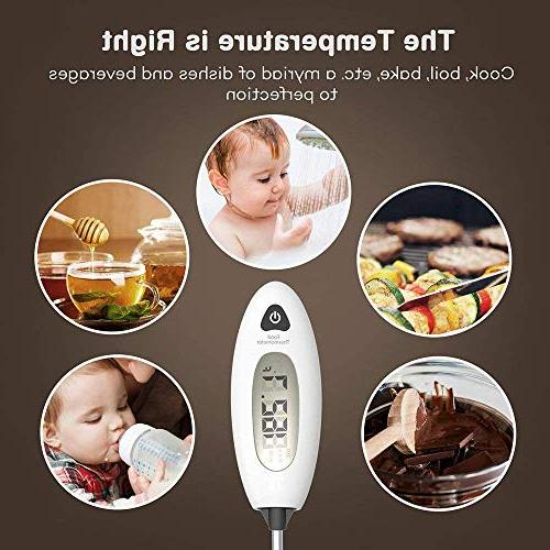 TaoTronics Thermometer 40% Sheath, Long Probe Baby-Formula, BBQ, and Grilled