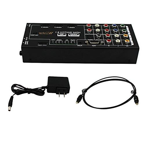 Multi-Functional Audio Extractor with 1 with VGA Audio Optical / Coaxial 5.1 Channel Support