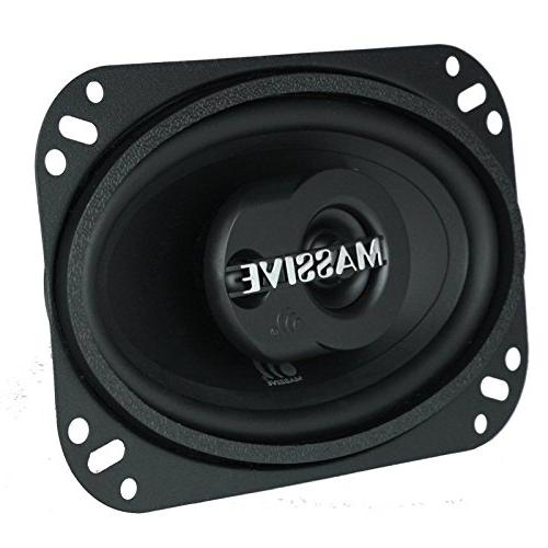 Massive Audio Series Coaxial Watts, 4 Ohm, RMS Heavy 4x6 Inch 2 Enjoy Crystal Clear Sound with Great Coaxial Speaker