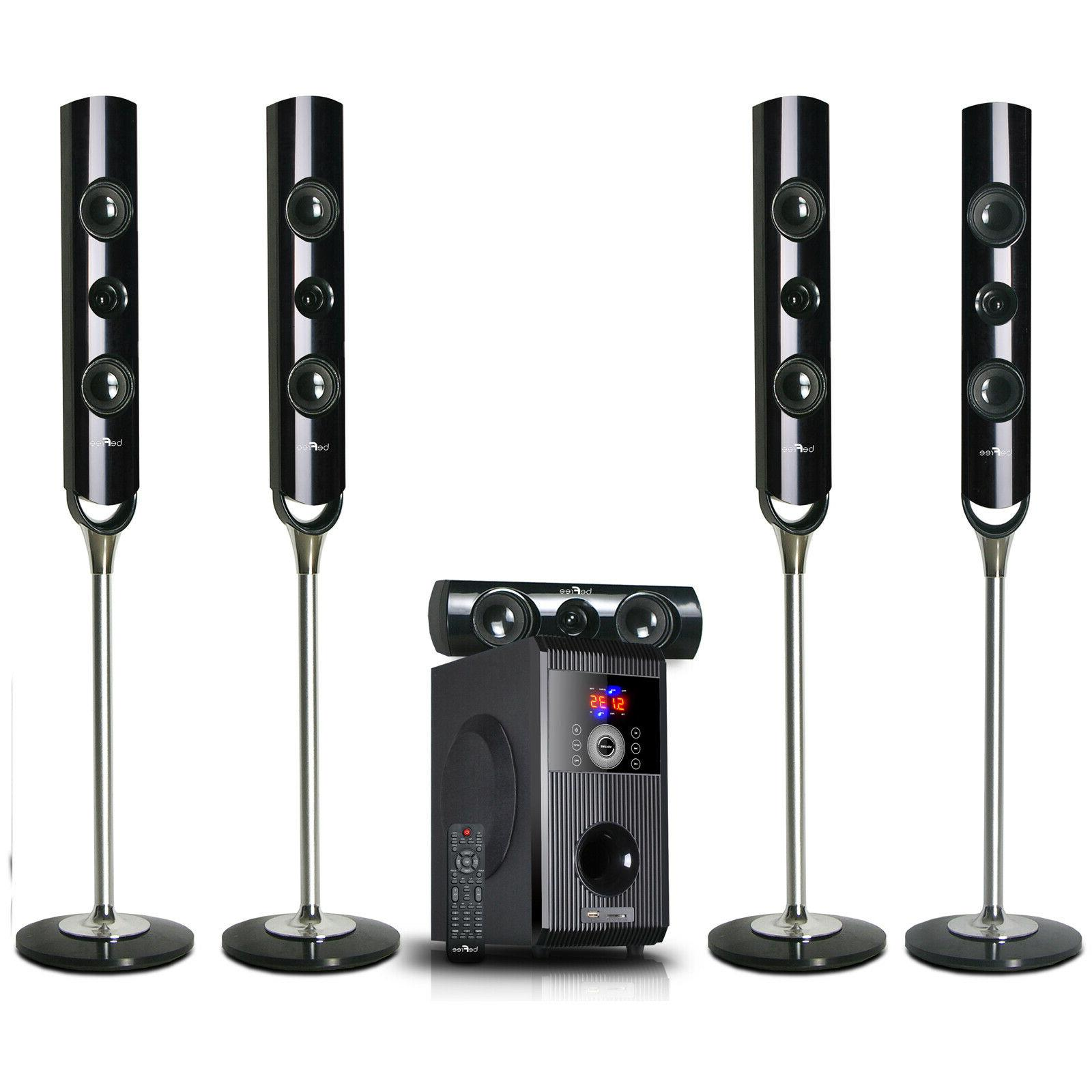 NEW 5.1 CHANNEL HOME SURROUND SOUND THEATER SPEAKER SYSTEM B