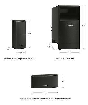 NEW SERIES HOME SPEAKER SYSTEM BLACK 5 five
