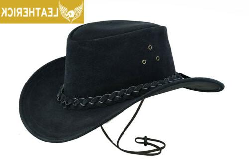 new australian black western outback leather cowboy
