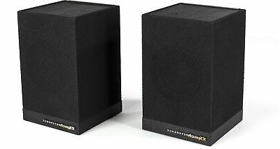 pair 2 surround 3 wireless speakers black