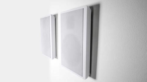 pair rockslim white front rear surround sound