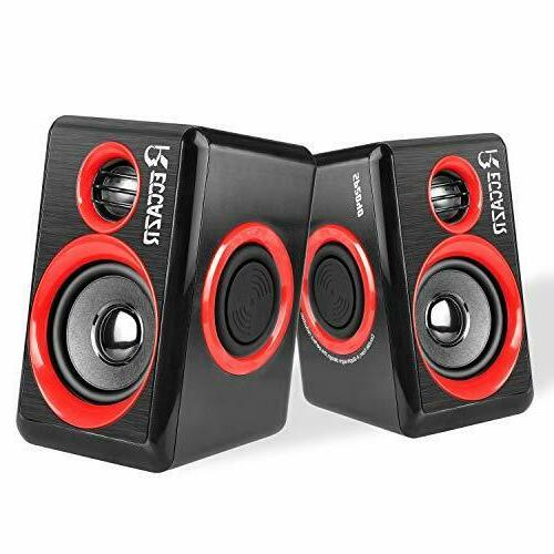 Pc Computer Speakers With Surround Sound Usb Wired Laptop De
