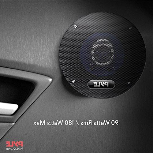 "4"" Car Speaker - Upgraded Injection Cone 2-Way Watt w/ Butyl Rubber - Frequency 4 Ohm & ASV Coil Pyle"