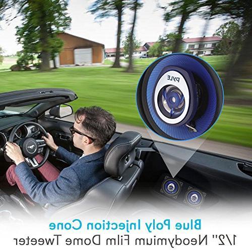 """4"""" Car Speaker - Injection 2-Way 180 Watt Butyl - 4 ASV Voice Pyle PL42BL"""