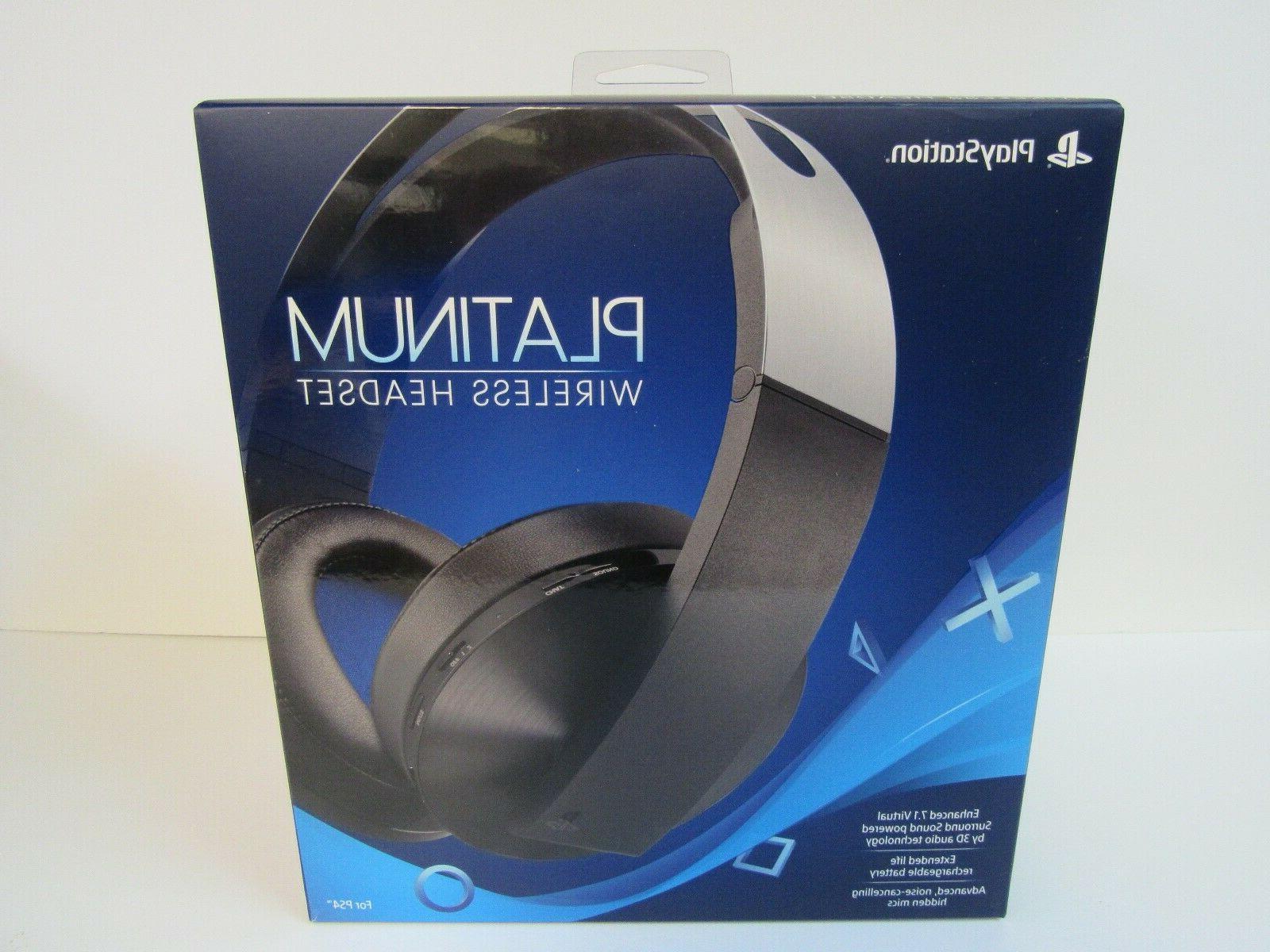 Sony Playstation 4 Ps4 Platinum Wireless Headset 7 1