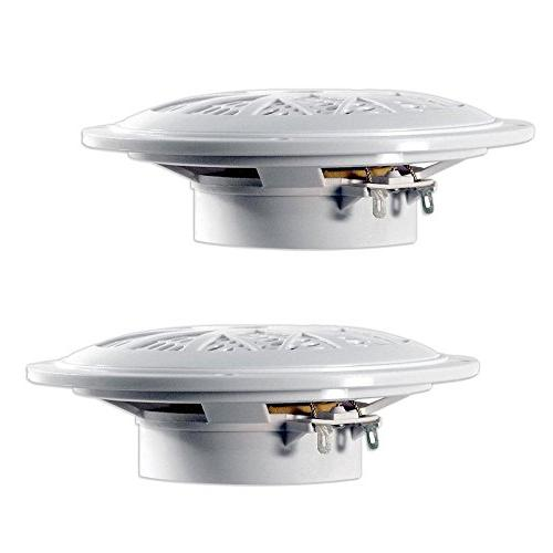 5.25 Dual Speakers - Way Waterproof and Weather Outdoor Audio System Cloth Surround Pair - PLMR51W